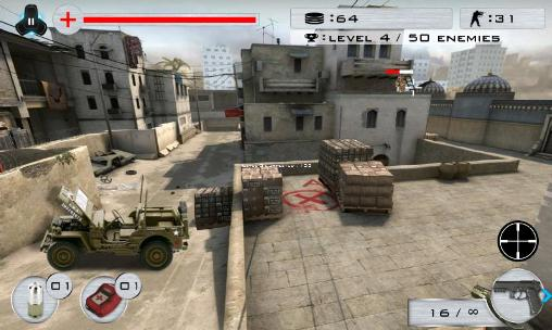 Screenshots of the Strike shooting: SWAT force for Android tablet, phone.