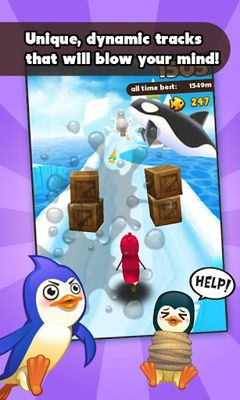 Screenshots of the Super Penguins for Android tablet, phone.