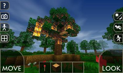 Screenshots of the Survivalcraft for Android tablet, phone.