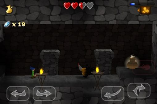 Screenshots of the Swordigo for Android tablet, phone.