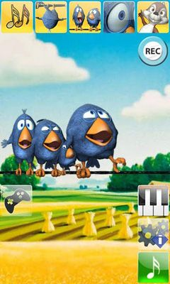 Talking Birds On A Wire - Android game screenshots. Gameplay Talking