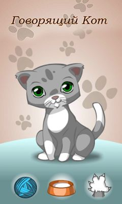 Screenshots of the Talking Cat for Android tablet, phone.