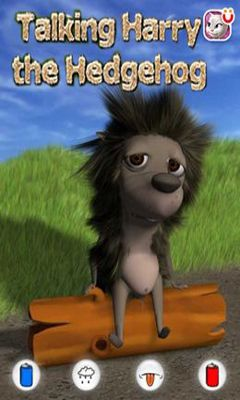 Screenshots of the Talking Harry the Hedgehog for Android tablet, phone.