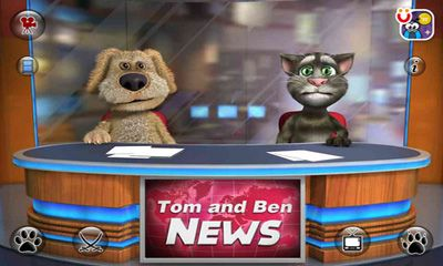 Screenshots of the Talking Tom & Ben News for Android tablet, phone.