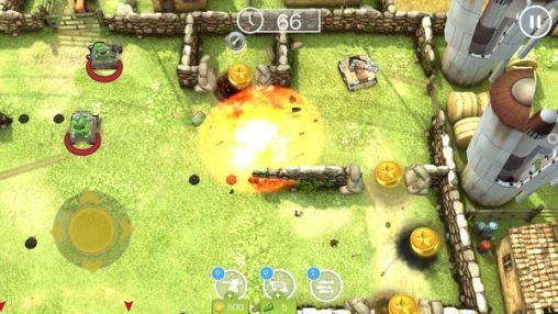 Screenshots of the Tank battles for Android tablet, phone.