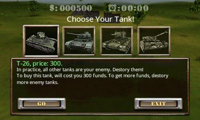 Screenshots of the Tank Fury 3D for Android tablet, phone.