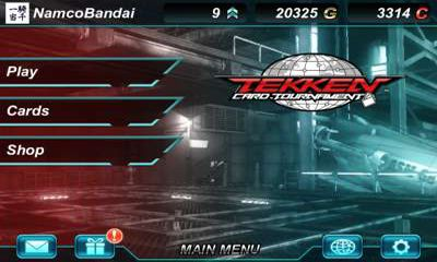 Screenshots of the Tekken Card Tournament for Android tablet, phone.