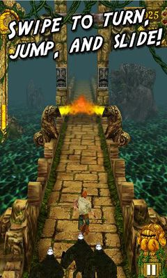 Screenshots of the Temple Run for Android tablet, phone.