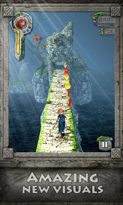 Screenshots of the Temple Run Brave for Android tablet, phone.