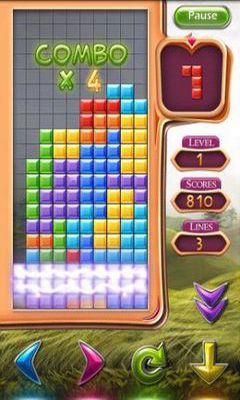 Screenshots of the Tetris for Android tablet, phone.