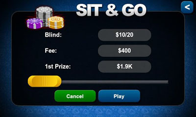 Screenshots of the Texas Holdem Poker for Android tablet, phone.