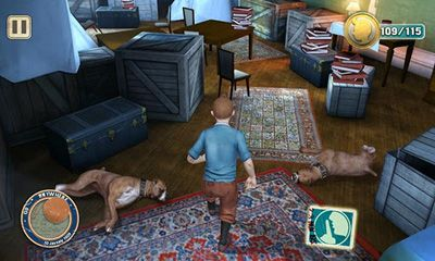 Screenshots of the The Adventures of Tintin for Android tablet, phone.