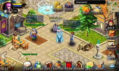 Screenshots of the The Age of Warcraft for Android tablet, phone.
