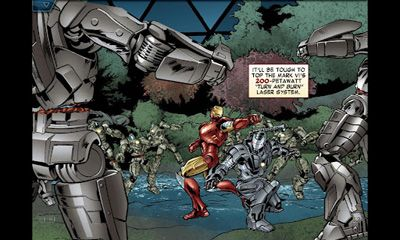 Screenshots of the The Avengers. Iron Man: Mark 7 for Android tablet, phone.