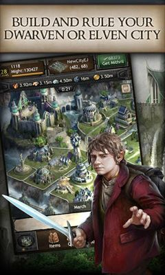 Screenshots of the The Hobbit Kingdoms of Middle-Earth for Android tablet, phone.