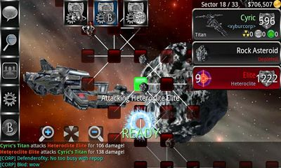 Screenshots of the The Infinite Black for Android tablet, phone.