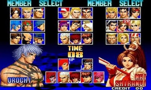Screenshots of the The king of fighters 97 for Android tablet, phone.