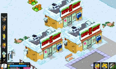 Screenshots of the The Simpsons Tapped Out for Android tablet, phone.