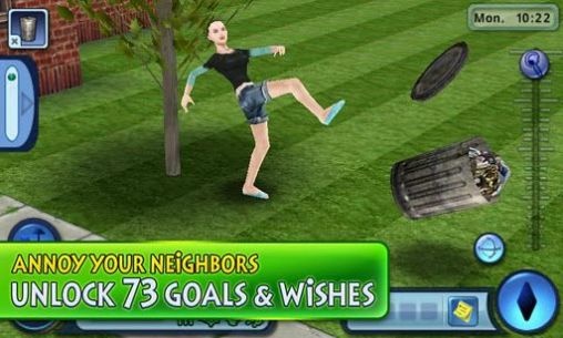 Screenshots of the The Sims 3 for Android tablet, phone.