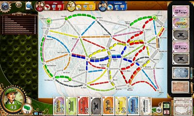 Screenshots of the Ticket to Ride for Android tablet, phone.