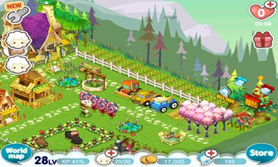 Screenshots of the Tiny Farm for Android tablet, phone.