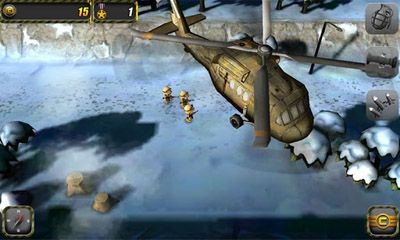 Screenshots of the Tiny Troopers for Android tablet, phone.