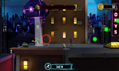 Screenshots of the TMNT:  Rooftop run for Android tablet, phone.