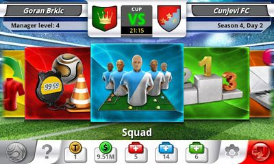 Screenshots of the Top Eleven for Android tablet, phone.