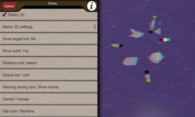 Screenshots of the Top Sailor sailing simulator for Android tablet, phone.