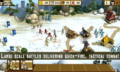 Screenshots of the Total War Battles: Shogun for Android tablet, phone