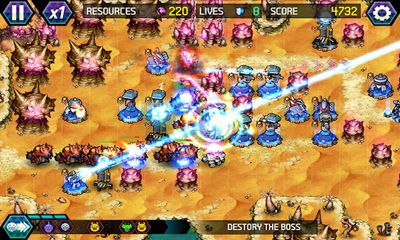 Screenshots of the Tower Defense Lost Earth for Android tablet, phone.
