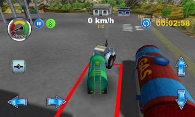 Screenshots of the Tractor Farm Driver for Android tablet, phone.