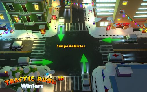Screenshots of the Traffic rush winters 3D for Android tablet, phone.