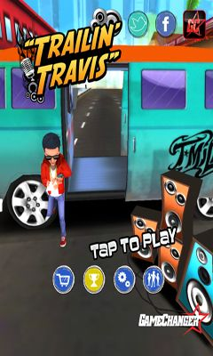 Screenshots of the Trailin' Travis for Android tablet, phone.