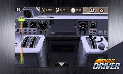 Screenshots of the Trainz Driver for Android tablet, phone.