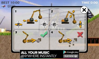 Screenshots of the Traktor Digger for Android tablet, phone.