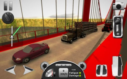 Screenshots of the Truck simulator 3D for Android tablet, phone.