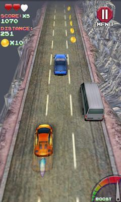 Screenshots of the Turbo Racing 3D for Android tablet, phone.