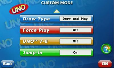 Screenshots of the UNO for Android tablet, phone.