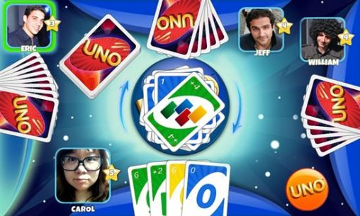 Screenshots of the UNO & friends for Android tablet, phone.