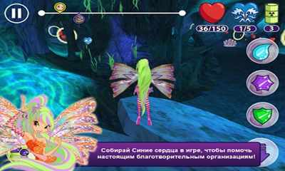 Screenshots of the Winx: Sirenix Power for Android tablet, phone.