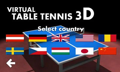 Screenshots of the Virtual Table Tennis 3D for Android tablet, phone.