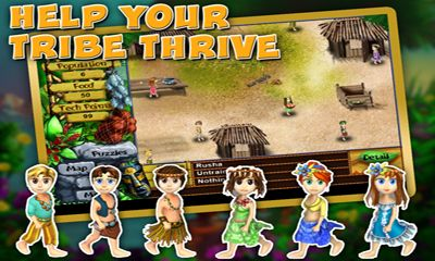 Screenshots of the Virtual Villagers: Origins for Android tablet, phone.