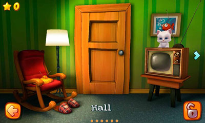 Screenshots of the Wake the Cat for Android tablet, phone.