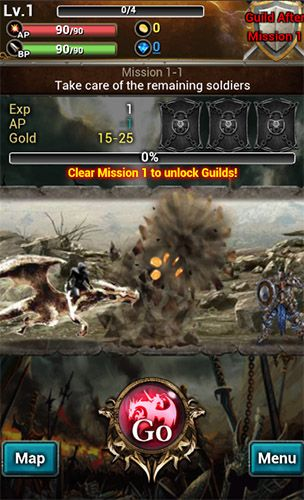Screenshots of the War of legions for Android tablet, phone.