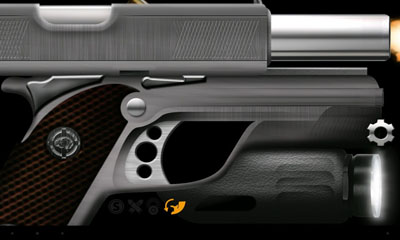 Screenshots of the Weaphones Firearms Simulator for Android tablet, phone.