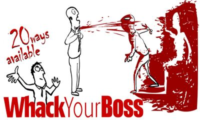 Screenshots of the Whack Your Boss for Android tablet, phone.