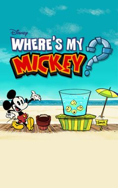 Screenshots of the Where's My Mickey? for Android tablet, phone.