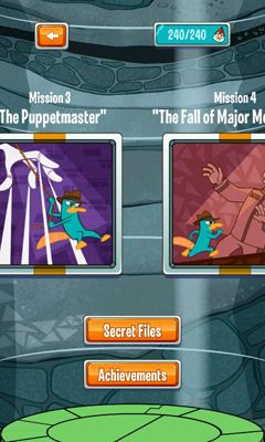 Screenshots of the Where's My Perry? for Android tablet, phone.