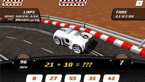 Screenshots of the Whiz racer for Android tablet, phone.